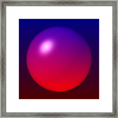 Framed Print featuring the digital art Sphere by Lyle Hatch