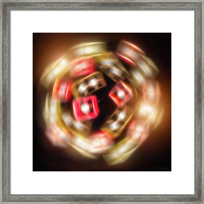 Sphere Of Light Framed Print by Wim Lanclus