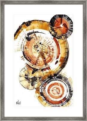 Framed Print featuring the painting Sphere Series 1020.050112 by Kris Haas