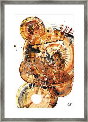 Framed Print featuring the painting Sphere Series 1021.050212 by Kris Haas