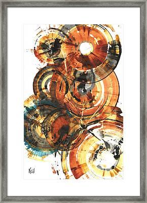 Framed Print featuring the painting Sphere Series 1022.050212 by Kris Haas