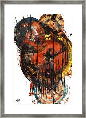 Framed Print featuring the painting Sphere Series 1023.050312 by Kris Haas
