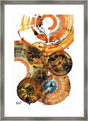 Framed Print featuring the painting Sphere Series 1024.050312 by Kris Haas