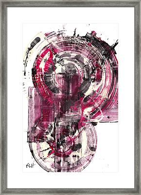 Framed Print featuring the painting Sphere Series 1026.050412 by Kris Haas