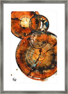 Framed Print featuring the painting Sphere Series 1027.050412 by Kris Haas