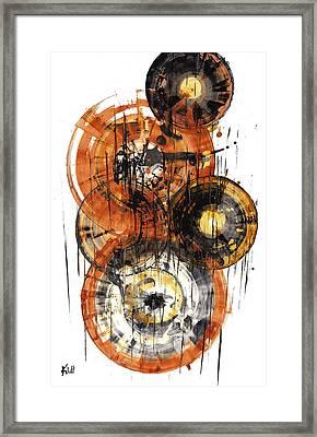 Framed Print featuring the painting Sphere Series 1028.050412 by Kris Haas