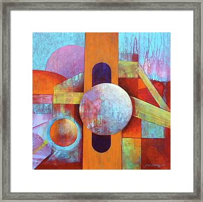 Spheres And Beams Framed Print by J W Kelly