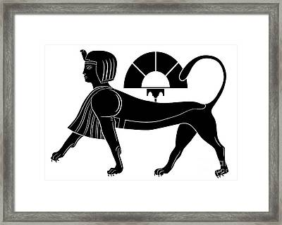 Sphinx - Mythical Creatures Of Ancient Egypt Framed Print