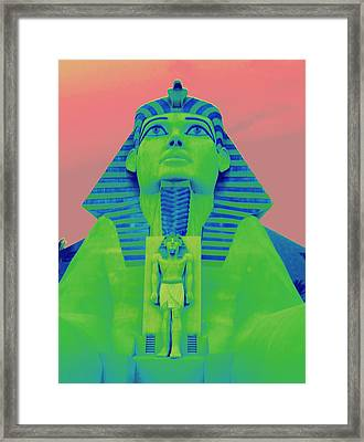 Sphinx At Luxor - 2 Framed Print