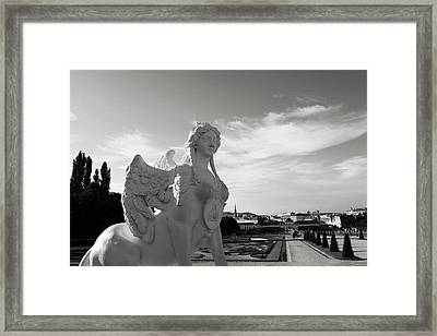 Sphinx- By Linda Woods Framed Print by Linda Woods