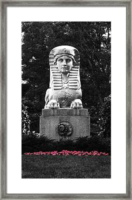 Sphinx In New England Framed Print by Brigid Nelson