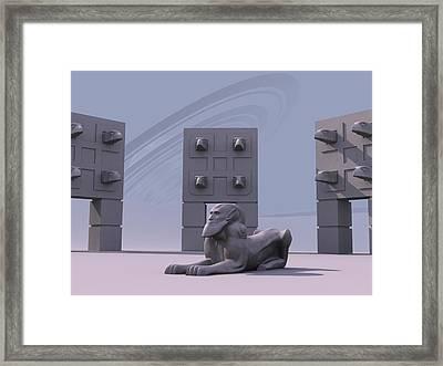 Sphinx Framed Print by Mariusz Loszakiewicz