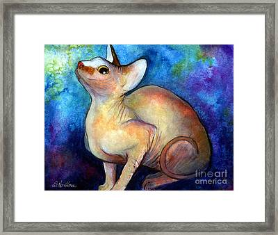 Sphynx Cat 5 Painting Framed Print