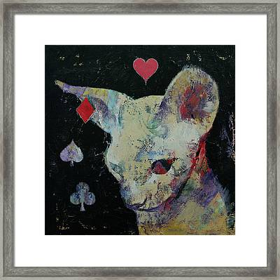 Sphynx Cat Lover Framed Print by Michael Creese