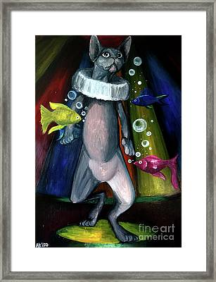 Sphynx Clown Framed Print