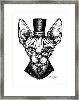 Sphynx Gentleman Framed Print