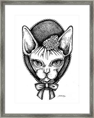 Sphynx Lady Framed Print