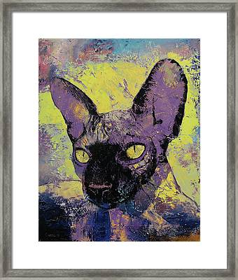 Sphynx Painting Framed Print by Michael Creese