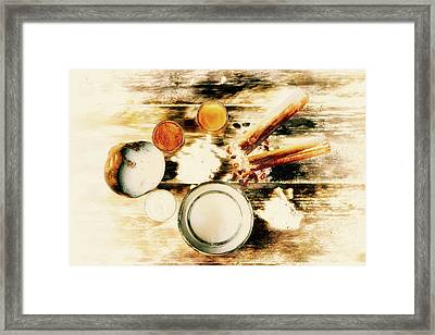 Spice Brown  Framed Print