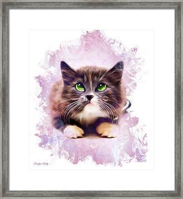 Spice Kitty Framed Print