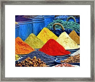 Spice Market In Casablanca Framed Print