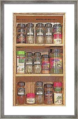 Spice Rack Still Life Framed Print by Steve Ohlsen