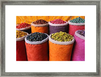 Framed Print featuring the photograph Spice Rainbow by Ramona Johnston