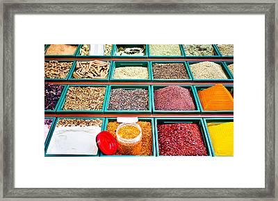 Spice Stall Framed Print