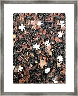 Spiced Tea Detail Framed Print by Tom Gowanlock