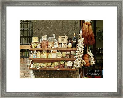 Spices And Condiments Framed Print by Georgia Sheron