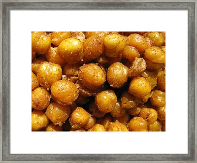 Spicy Chick Peas Framed Print