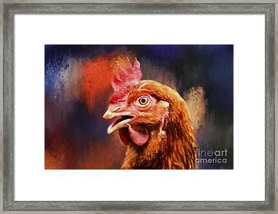 Spicy Chicken Framed Print by Darren Fisher