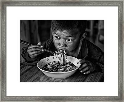 Spicy Noodle Framed Print