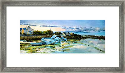 Spiddal Harbour Framed Print by Conor McGuire
