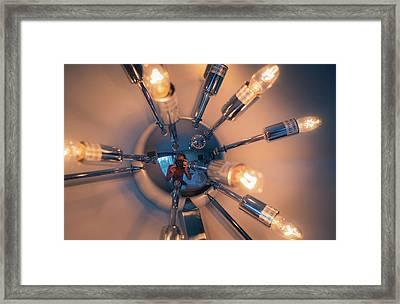 Spider Light Reflected Portrait Framed Print