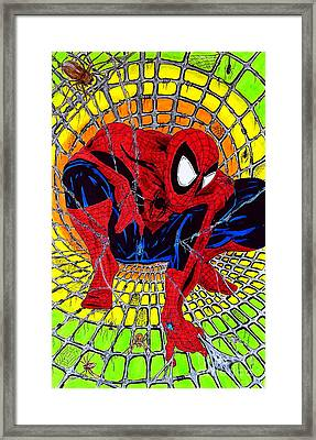 Spider-man Framed Print by Justin Moore