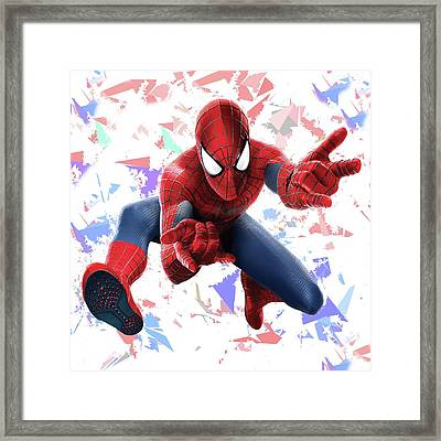 Spider Man Splash Super Hero Series Framed Print by Movie Poster Prints