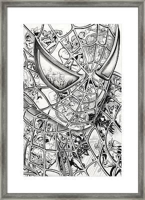 Spider-man's Foes Framed Print by James Holko