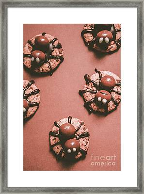 Spider Monster Biscuits For Halloween Framed Print