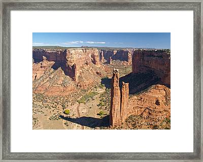 Spider Rock At Canyon De Chelly Framed Print by Alex Cassels