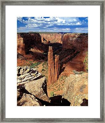 Spider Rock Canyon De Chelly Arizona Framed Print by George Oze