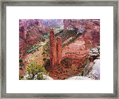 Spider Rock Framed Print by Marilyn Smith
