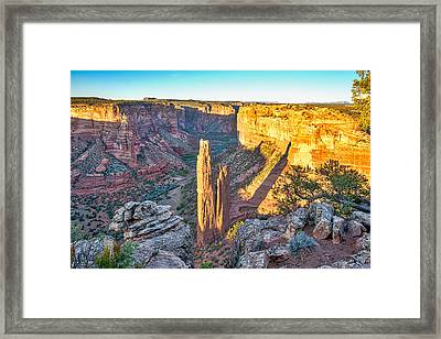 Spider Rock Of Canyon De Chelly Framed Print by Tod and Cynthia Grubbs