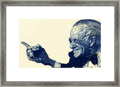 Spider Stan Framed Print by Thomas Fluharty