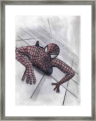 Spiderman Framed Print by James Bradley
