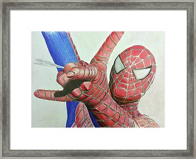 Spiderman Framed Print by Michael McKenzie