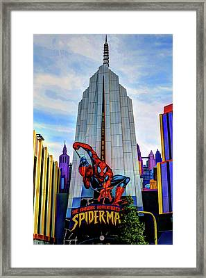 Framed Print featuring the photograph Spiderman by Tom Prendergast