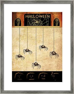 Spiders For Halloween Framed Print