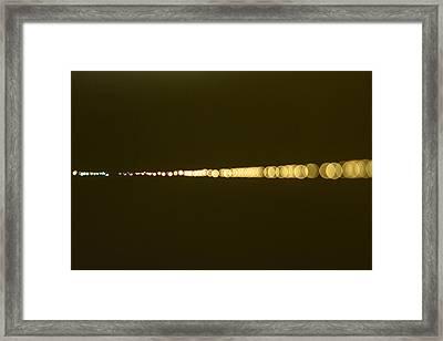 Spider's Necklace Framed Print by Peteris Vaivars