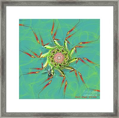 Spiderweb Framed Print by Cheri Doyle